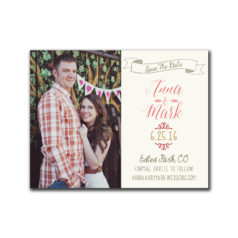 Floral Border Save the Date Postcard