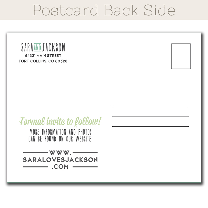 Simple Love Save The Date postcard The Print Cafe – Wedding Save the Date Postcards