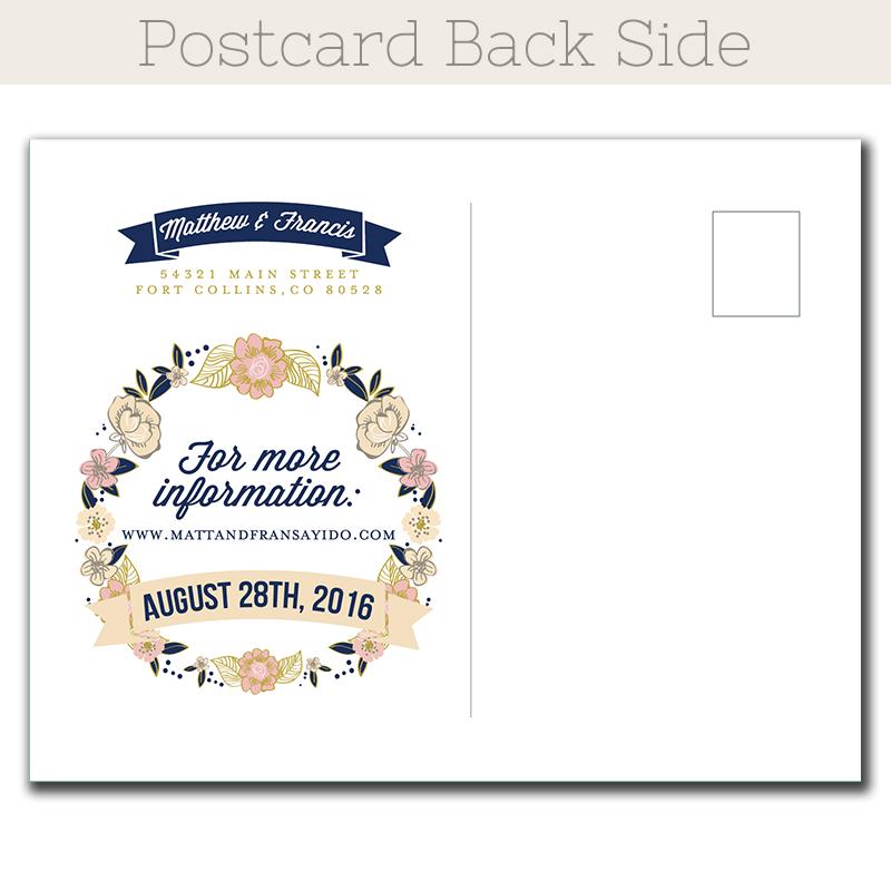 save date postcard